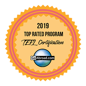 Award badge for top rated TEFL programme 2019