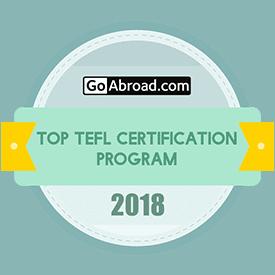 Award badge for for top TEFL certification 2018