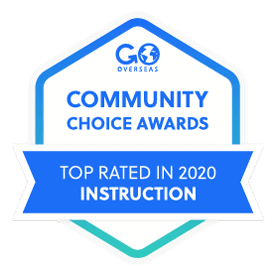 Award badge for top rated in instruction