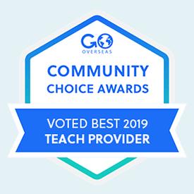 Award badge for best teach provider 2019